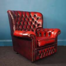 Leather Chesterfield Armchair Oxblood Chesterfield Chair Excellent Condition Unique Vintage