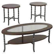 set of three end tables three posts vance 3 piece coffee table set reviews wayfair
