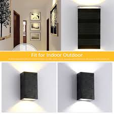 6w square indoor outdoor waterproof led wall lamp sconce for gate