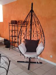 chaises en fer forg chaise suspendu en fer forgé sur mesure fer forge