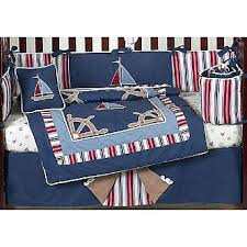 sweet jojo designs nautical nights collection 9pc crib bedding set