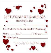 Sample Resume For Marriage by Sample Marriage Certificate Template 20 Documents In Pdf Word
