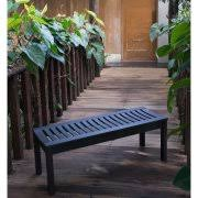 Outdoor Garden Bench Better Homes And Gardens Delahey Backless Outdoor Garden Bench