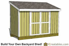 Diy Wooden Shed Plans by 5x12 Lean To Shed Plans Icreatables Sheds