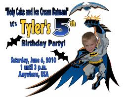 Personalized Invitation Card For Birthday Batman Personalized Photo Birthday Invitations 1 39 Welcome