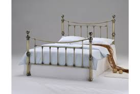 stratford antique brass bed frame double or king size sleep design