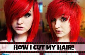 how i cut my hair choppy fringe layers youtube