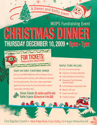 gift card fundraiser christmas dinner and raffle fundraiser mops momsnext of grass