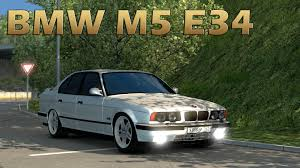 mod car game euro truck simulator 2 ets2 bmw m5 e34 car mod euro truck simulator 2 youtube