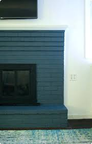 fireplace mantel paint colors painted stone makeover the inspired