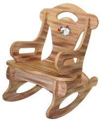 brown puzzle rocker rocking chair solid wood for kid child baby