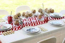 themed table decorations breakfast table decoration ideas baseball party decorating ideas