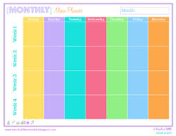 monthly timetable template 2017 calendar printable 2017