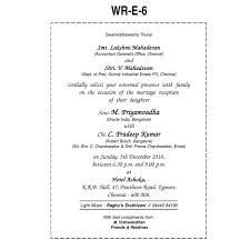 Reception Invitation Cards Christian Wedding Cards Matter In English Various Invitation