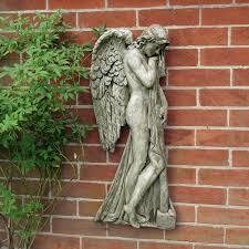 religious angel hanging plaque decor garden wall art s u0026s shop