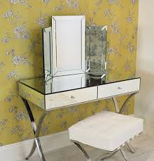 mirrored console vanity table adding shine with mirrored furniture