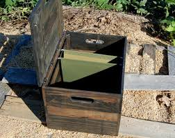 Reclaimed Wood File Cabinet File Cabinet Office Furniture Portable File Storage Crate