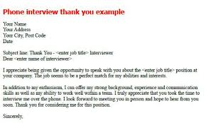 sample thank you letter phone interview mediafoxstudio com