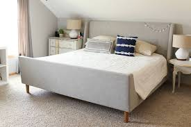 bedroom silver nightstand king size bed head and footboards