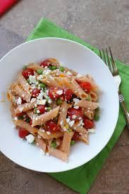 summer pasta salad with tomato feta and orange dressing recipe