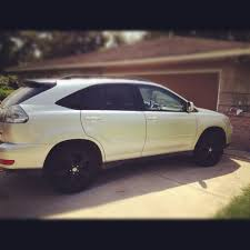 lexus rx rims just spray painted my stock rims black clublexus lexus forum