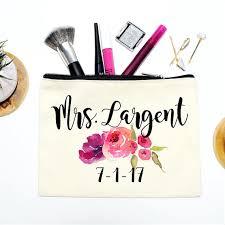 Bridal Makeup Bags Bride Makeup Bag Bridal Gift Personalized Wedding Gift