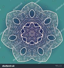 ornamental lace pattern circle background stock illustration
