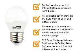 j lumi led light bulb 5w replaces 40w incandescent a15 or g45