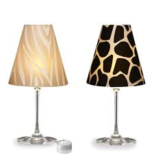 Glass Lamp Shades For Table Lamps 6 Wineglass Lampshades Wine Glass Lampshades