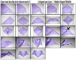 origami halloween coeur avec les ailes de la chauve souris pour