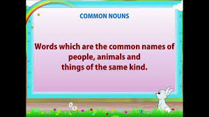 English Grammar Worksheets For Grade 2 Learn Grade 2 English Grammar Nouns Youtube