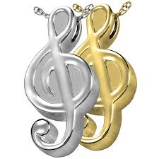 cremation jewlery treble clef urn cremation jewelry for musician memorial gallery