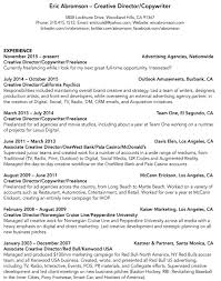 Freelance Work On Resume Resume U2014 Eric Abromson