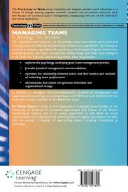 managing teams a strategy for success psychology work series