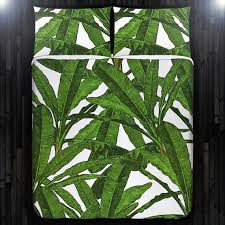 Tropical Duvet Covers Queen Tropical Jungle Palm Banana Leaf Duvet Cover Bedding Queen New