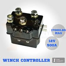 12v winch controller solenoid 500a dc switch recovery 4wd 4x4 boat