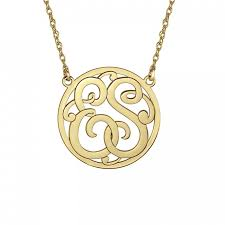 initial monogram necklace classic two initial monogram necklace