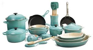 oven to table bakeware sets le creuset sets stylish 26 piece complete kitchen cook and bakeware