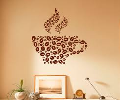 coffee cup wall decal coffee beans vinyl stickers cafe zoom