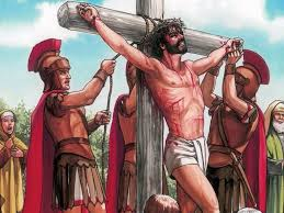 free bible images jesus is nailed to a cross at golgotha