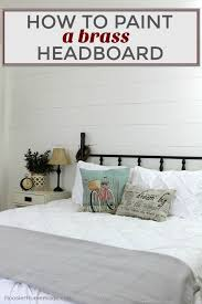 How To Paint A Faucet How To Paint A Brass Headboard Brass Headboard Bedrooms And