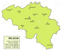 Map Of Belgium In Europe by Belgium Map With Major Cities Brussels Antwerp Namur Liege