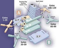 Phoenix International Airport Map by Airport Terminal Maps Ontario Orange County Orlando Palm