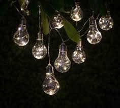 light bulb string lights warm glow solar light bulb string lights 10pk includes solar powered