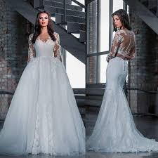 dh wedding dresses fashion lace wedding dresses with detachable skirt 2016 princess