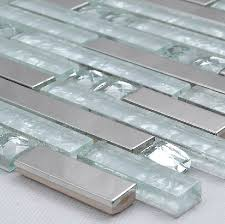 silver metallic mosaic tile glass mosaic tile kitchen backsplash