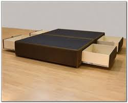 platform bed with drawers queen size beds home design ideas