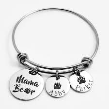 engraved jewelry engraved jewelry bracelets paw print bangle bracelet