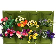 Outdoor Wall Hanging Planters by Aliexpress Com Buy Green Planting Bag Garden Wall Vertical