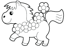 easy coloring pages for preschoolers or toddler color pages